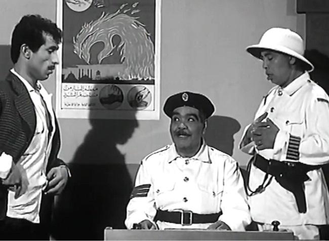 ميمو رمسيس وإسماعيل ياسين ورياض القصبجي في مشهد من فيلم إسماعيل ياسين بوليس سري