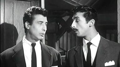 ميمو رمسيس وجمال رمسيس في مشهد من فيلم إسماعيل ياسين بوليس سري
