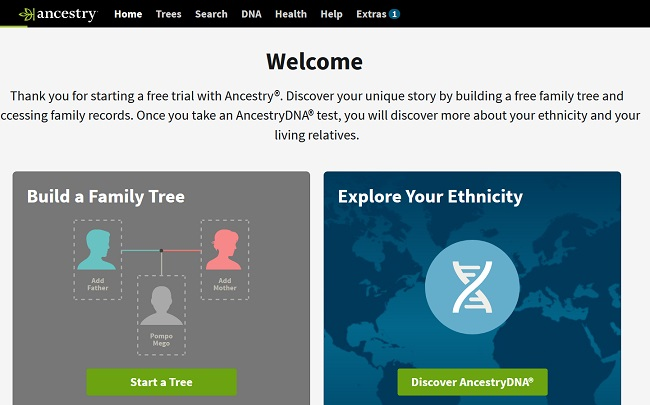 موقع ancestry الأمريكي