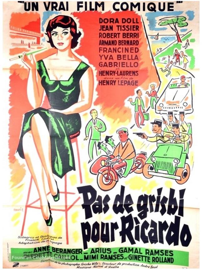 """أفيش الفيلم الفرنسي """"ليس هناك سطو على ريكاردو"""" وتظهر به أسماء ميمو وجمال رمسيس"""