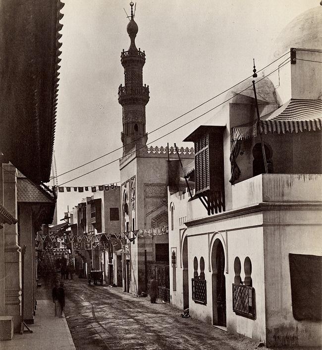 الجناح المصري بمعرض باريس 1889 ويظهر به المسجد