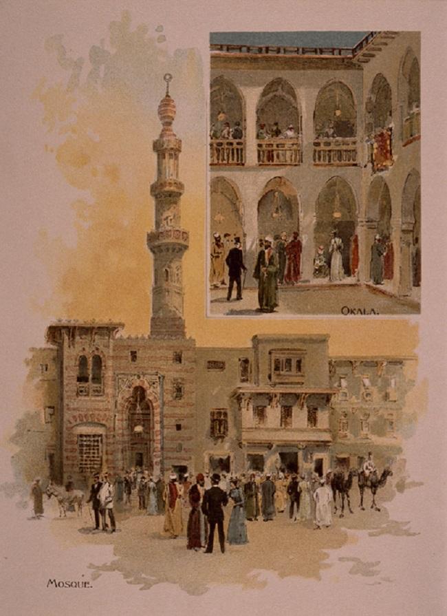تقول بعض الآراء أن مسجد الجناح المصري بمعرض شيكاغو هو أول مسجد يقام في أمريكا